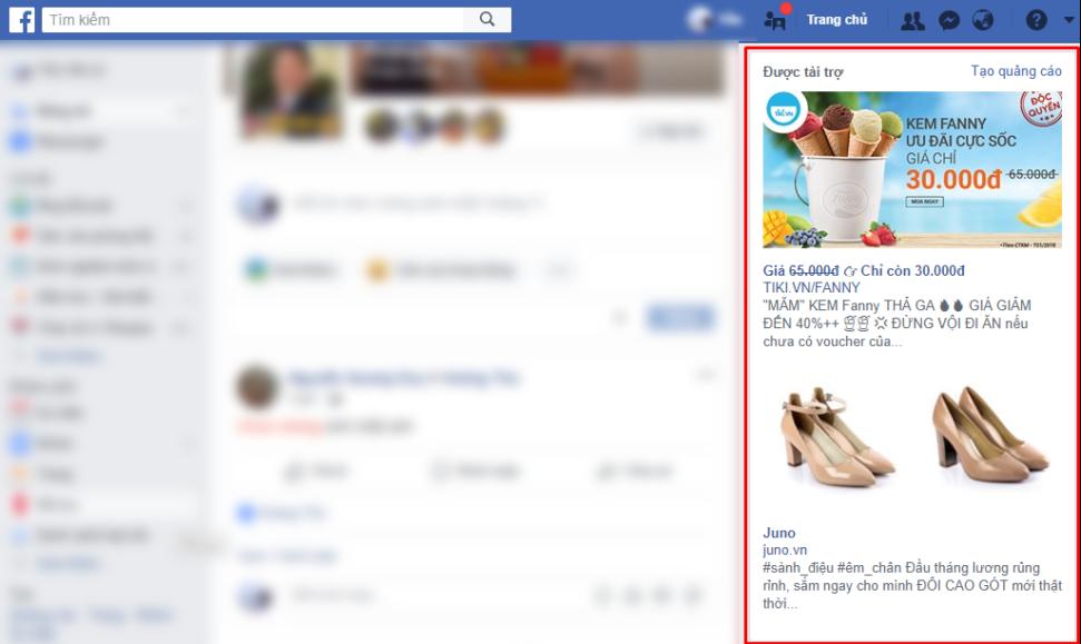quảng cáo fb dạng cơ bản
