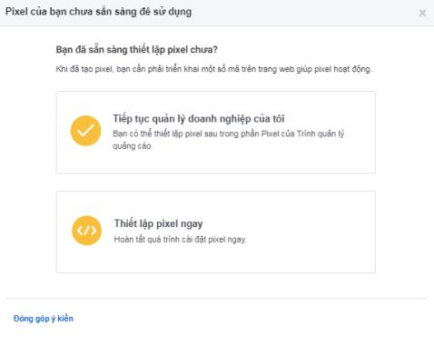 cài đặt Pixel Facebook