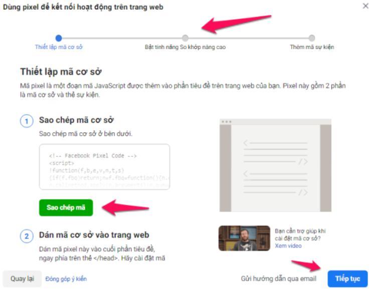 pixel kết nối hoạt động website